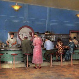 Cafe - The half way point 1938 by Mike Savad