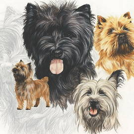 Barbara Keith - Cairn Terrier w/Ghost