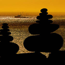Marty Saccone - Cairns in Silhouette