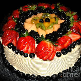 Sue Melvin - Cake Decorated with Fresh Fruit
