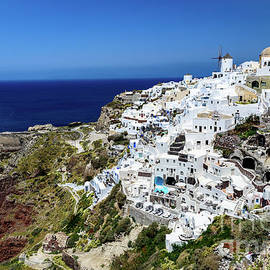 Caldera View Of Oia, Santorini, Greece by Global Light Photography - Nicole Leffer