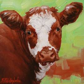 Margaret Stockdale - Calf Portrait In Miniature
