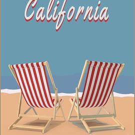 Edward Fielding - California Beach Vintage Poster
