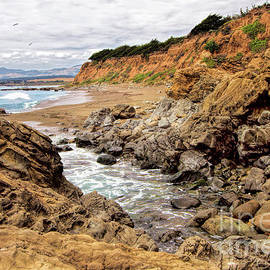 Dan Carmichael - California Coast Rocks Cliffs and Beach
