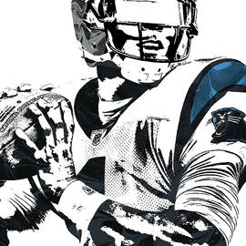 Joe Hamilton - CAM NEWTON CAROLINA PANTHERS PIXEL ART 3