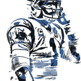 CAM NEWTON CAROLINA PANTHERS PIXEL ART 5 - Joe Hamilton