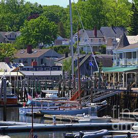 Camden Village Maine by Marty Fancy