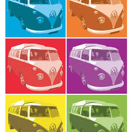 Camper Van Pop Art by Michael Tompsett