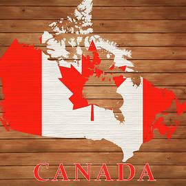 Dan Sproul - Canada Rustic Map On Wood