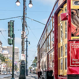 Canal Street Streetcar Triptych-left by Andy Crawford