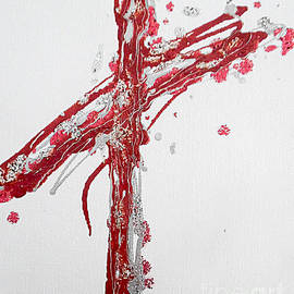 Candy-cane Cross by Jilian Cramb - AMothersFineArt