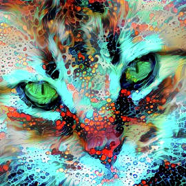 Candy the Colorful Green Eyed Cat by Peggy Collins