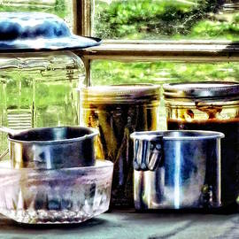 Canning Jars And Flour Sifters by Susan Savad