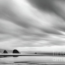 Paul Quinn - Cannon Beach long exposure sunrise in black and white
