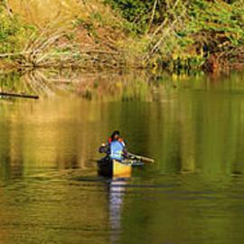 Les Palenik - Canoe Paddling In Fall