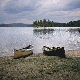 Canoes - Canisbay Lake - Square by Richard Andrews