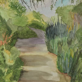 Linda Brody - Canyon Path II Watercolor