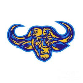 Aloysius Patrimonio - Cape Buffalo Head Retro