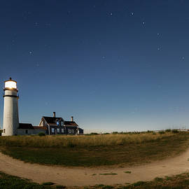 Bill Wakeley - Cape Cod Light Starry Night