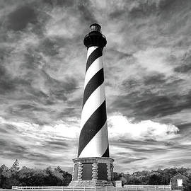 Cape Hatteras Lighthouse in Black and White by Norma Brandsberg
