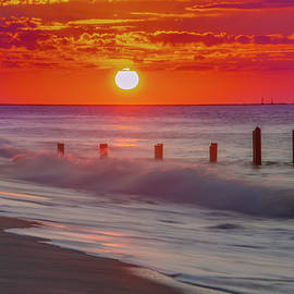 Cape May Surf and Sunrise by Bill Cannon