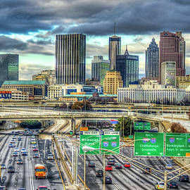 Reid Callaway - Capital Of The South Atlanta Skyline Cityscape Art