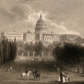 Capitol of the Unites States, Washington D C - 19th century
