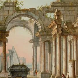 Capriccio with Ruins - Pietro Bellotti