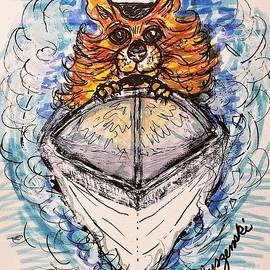 Captain Pomeranian Boat  by Geraldine Myszenski