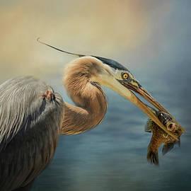 Jai Johnson - Captured Delicacy Blue Heron Art