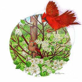 Jim Rehlin - Cardinal Couple / Pear Tree