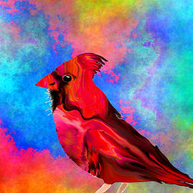 Cardinal in the Sunshine by Abstract Angel Artist Stephen K
