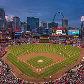 Cardinal Nation Busch Stadium St. Louis Cardinals Twilight 2015 by David Haskett II