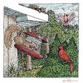 Jim Rehlin - Cardinals and Squirrels