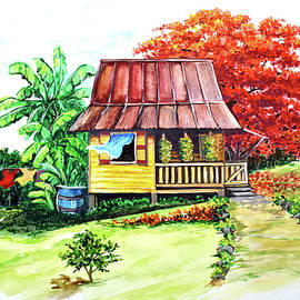 Caribbean House On The Hill by Karin  Dawn Kelshall- Best