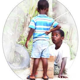 Caribbean kids illustration