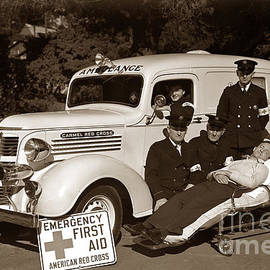 Carmel California Red Cross 1937 by California Views Archives Mr Pat Hathaway Archives