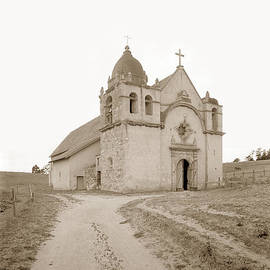 Carmel Mission South side Circa 1915 by California Views Archives Mr Pat Hathaway Archives