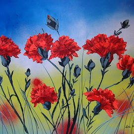 Carnations are for January by Lois Viguier