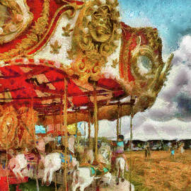 Carnival - The Merry-go-round by Mike Savad