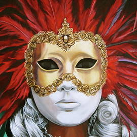 Carnival mask by Lillian  Bell