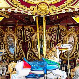 Carousel Erie County Fair 2017 Expressionist Effect by Rose Santuci-Sofranko