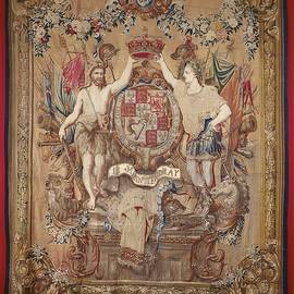 Textile tapestry Carpet arms of King William III  by R Muirhead Art