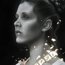 Carrie Fisher - Traditional Art Tribute by Alaina Ferguson