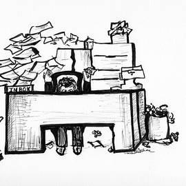 Cartoon Desk by Michelle Gilmore