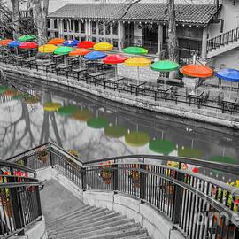 Casa Rio River Walk In Selective Color by Michael Tidwell