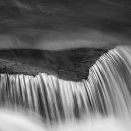 Cascade - Black and White by Stephen Stookey