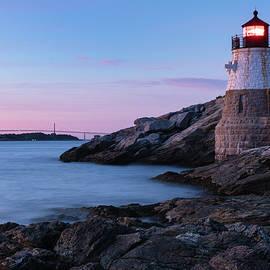 Dawna Moore Photography - Castle Hill Light at Dusk, Newport, Rhode Island