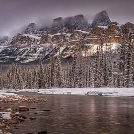 Yves Gagnon - Castle Mountain at Sunset, Banff National Park, Alberta Canada