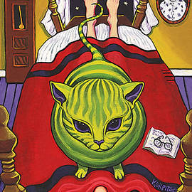 Cat - Alien Abduction by Rebecca Korpita